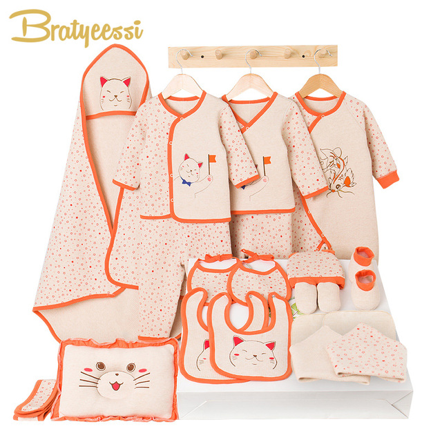Cartoon Baby Boy Clothes Newborn Soft Cotton Toddler Baby Girl Clothes Winter Spring Infant Clothing New Born Gift Set 2 Colors