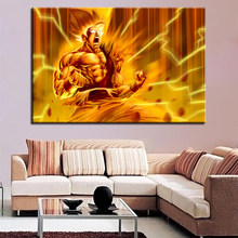 HD Prints Animation Modular Picture 1 Set Dragon Ball Character Canvas Painting Fashion Poster Wall Art Hallway Home Decor Frame(China)