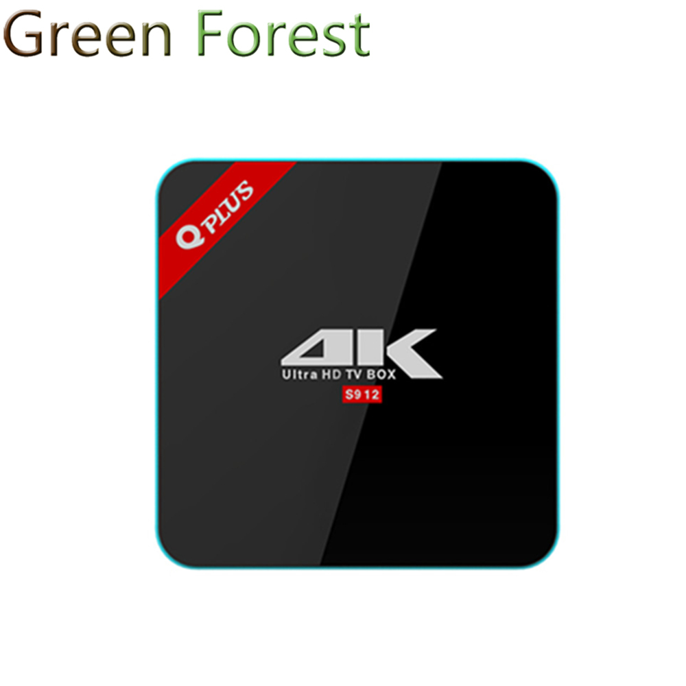 Q Plus Android TV BOX 6.0 3G+32G S912 Octa-core cortex-A53 Set Top Box Wifi Media Player better than h96 pro plus
