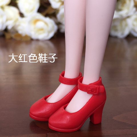 New 4Pairs High Heel Shoes For Blythe Dolls 1/6 BJD Doll Accessories 1/6 Fashion Doll Shoes For Licca Mini Shoes For Momoko Islamabad