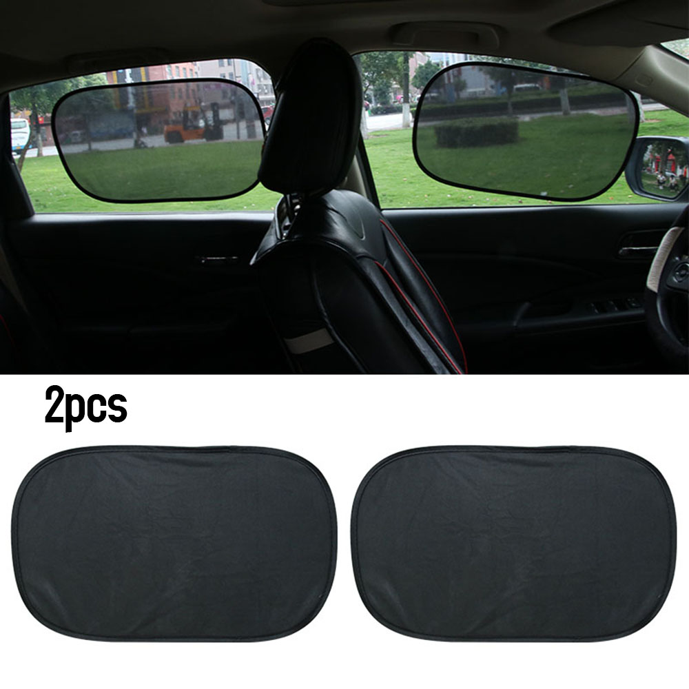 Black Car Sun Shade Side Rear Car Window Sunshade Cover Sun Protect Auto Accessories Electrostatic Adsorption Sticker 12*20inch