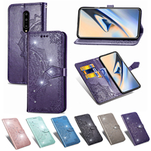 For One Plus 7 Pro Case Flip Luxury PU Leather Wallet Mandala Pattern Glitter Card Cover For One Plus 7 Pro Smartphone Woman