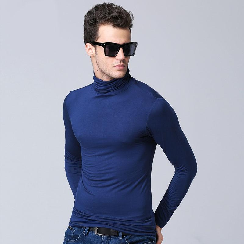 Herrmodell turtleneck långärmad T-shirt våren 2019 ny höststudent - Herrkläder - Foto 5