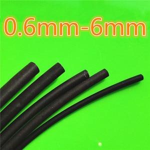 1meter 2:1 Black 0.6mm 0.8mm 1mm 1.5mm 2mm 2.5mm 3mm 3.5mm 4mm 4.5mm 5mm 6 Heat Shrink Heatshrink Tubing Tube Wire Dropshipping