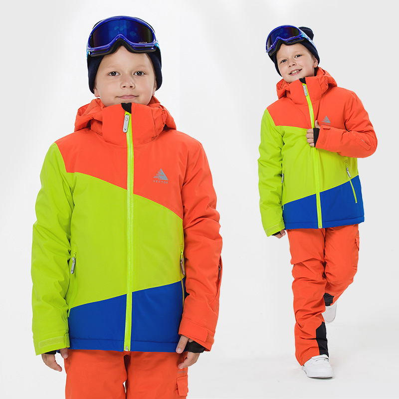 2018 de los niños de invierno multi-color de traje de esquí traje de simple y doble de niños y niñas chaqueta de esquí de montaña ropa deportiva