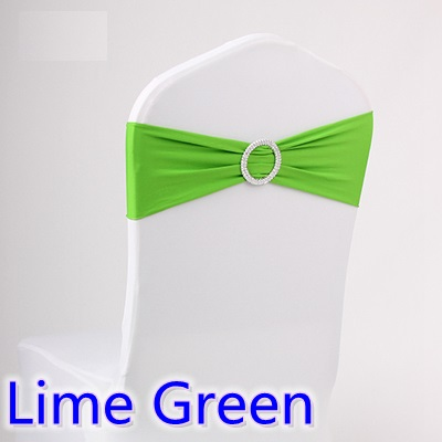 chair sashes for weddings spandex band with rhinestone for chair covers lime green colour on sale wedding decoration ribbon