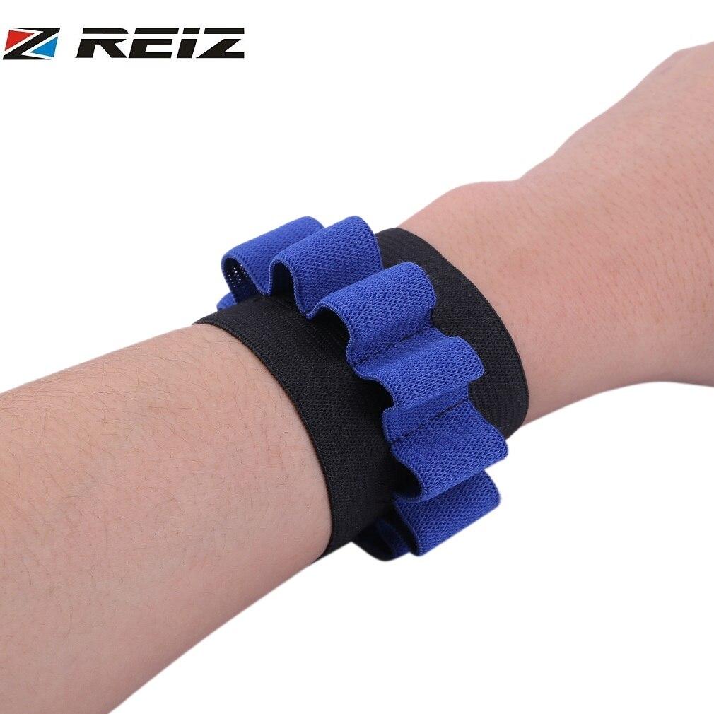 REIZ 1PCS Black Blue Tactical Cuff Pouch Nylon Bracer Wrist Support Wrister Kids Toy Foam Bullet Pouch Braces & Supports