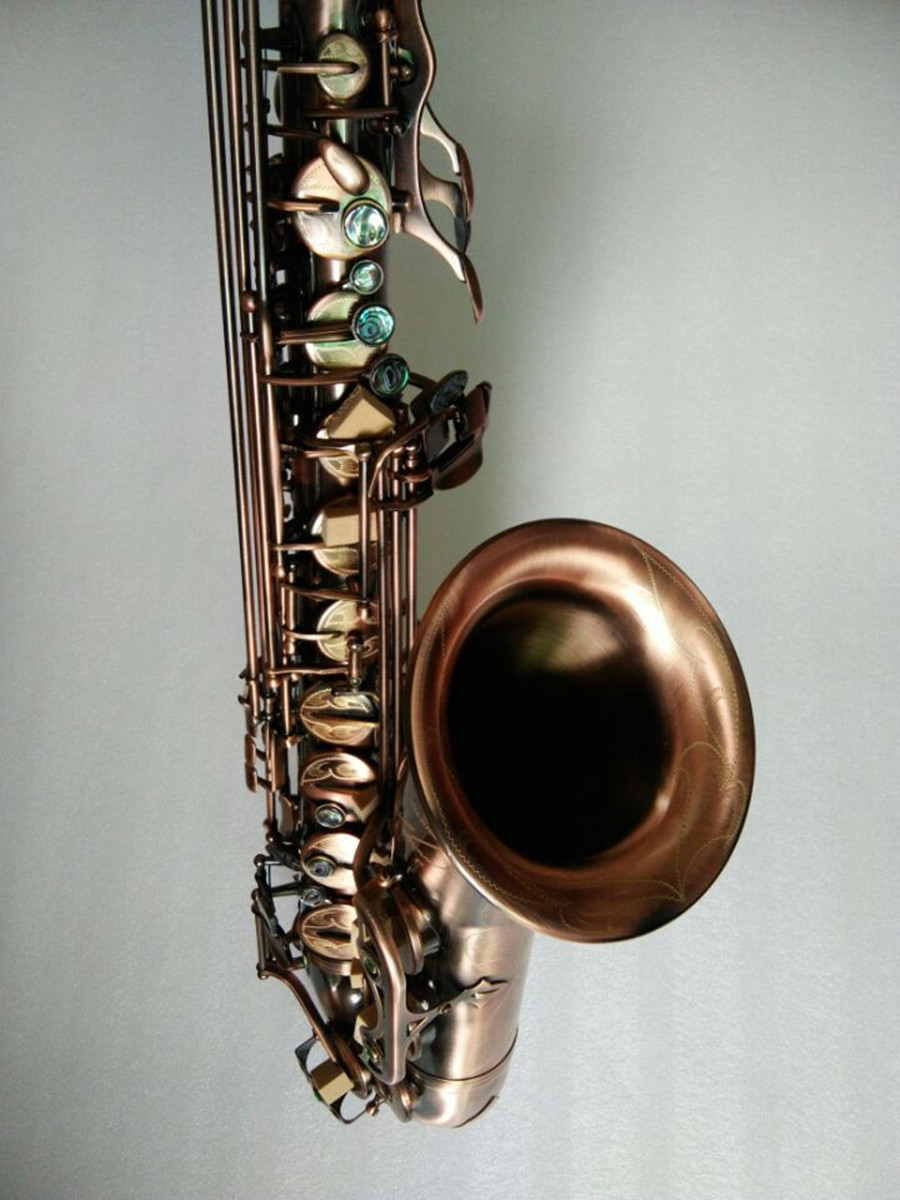 Antique Copper SimuIation high-quality Professional Sax Tenor Saxophone B STS-323 Curved Soprano Baritone Musical Instrument tenor saxophone instrument 54 selmer b flat saxophone tenor antique copper free shipping sound quality promotions sax