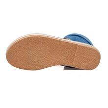 Denim Flat Woman Gladiator Sandals