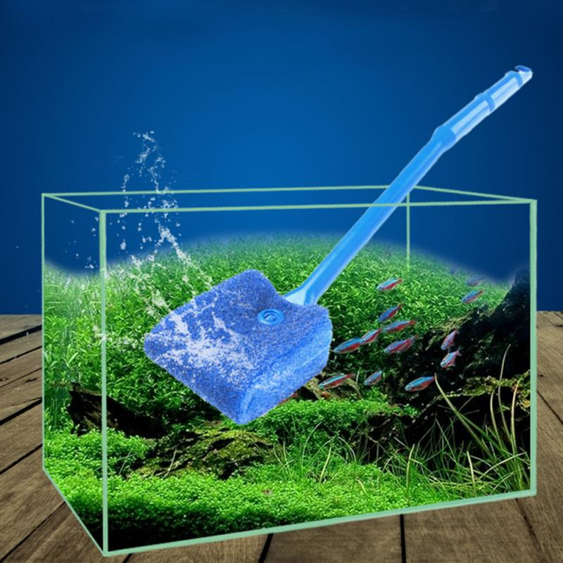 Hot sale algae cleaner sponge cleaning brush fish plant for How to remove algae from fish tank glass