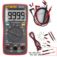 ANENG AN8008 Red Color True RMS LCD Digital Multimeter Voltmeter Ammeter AC DC Voltage Current 1