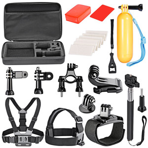 18 In 1 Sport Accessory Kit Skiing Climbing Bike Camping Diving for GoPro Hero 7/6/5/4/3/3+/2/1/4 Session Xiaomi Yi In