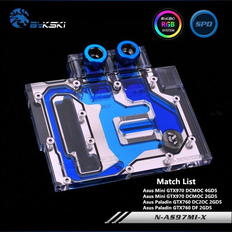 Bykski Couverture Complète GPU Bloc De L'eau Pour ASUS MINI GTX970 GTX760 Carte Graphique N-AS97MI-X