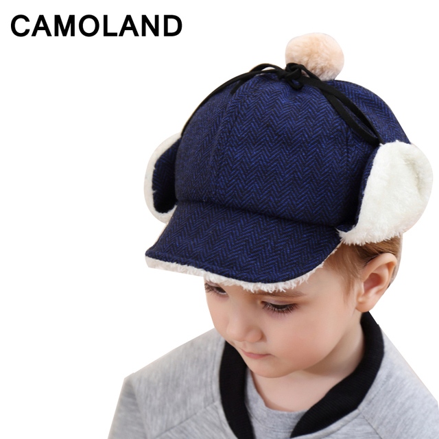 9e58485d69e Winter Bomber Hats Kids cap Cotton Russian Hat earflap Trapper Trooper Hat  Balaclava Warm Boys Snow caps Child Outdoors Soviets