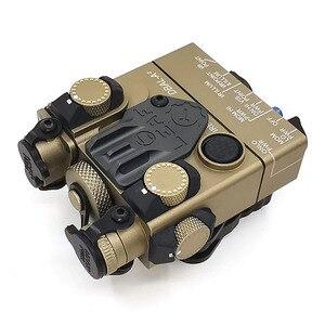 Image 4 - An/PEQ 15A DBAL A2 led 백색 무기 빛 + 원격 스위치를 가진 빨간 레이저 렌즈 전술 사냥 소총 airsoft 건전지 상자