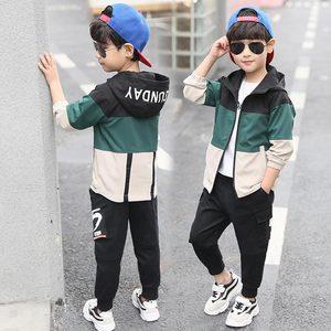 Image 5 - 2019 yeni çocuk Boys giyim seti çocuk Tops Hoodie ceketler + pantolon seti 4 6 8 10 12 14 15 yıl çocuk giyim erkek rahat takım elbise