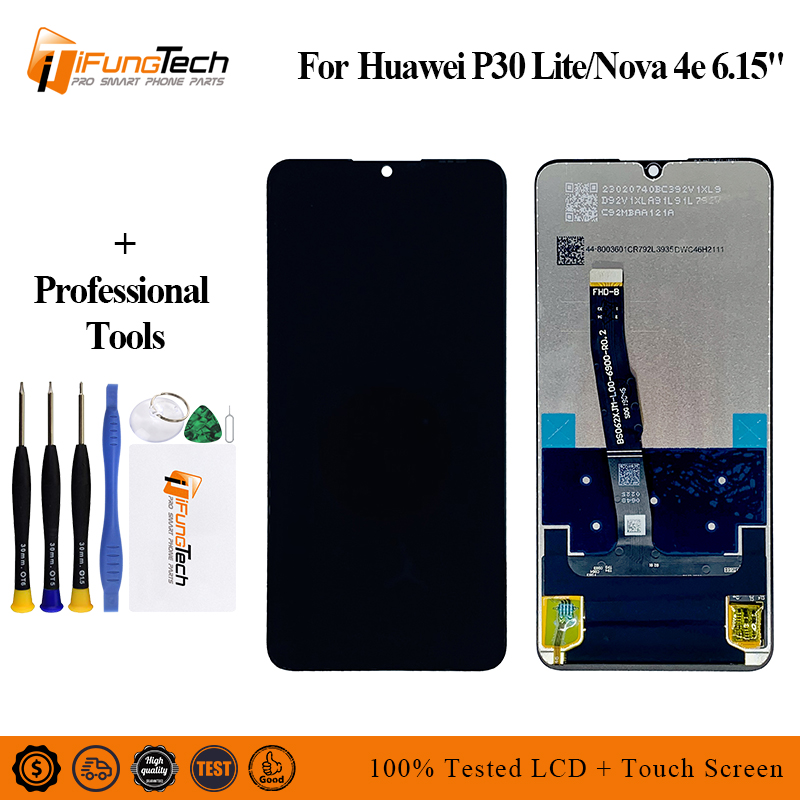 6.15 1080x2312 For Huawei P30 Lite LCD Display Touch Screen Digitizer Assembly Replacement Parts For Nova 4E MAR-LX1M MAR-LX2J6.15 1080x2312 For Huawei P30 Lite LCD Display Touch Screen Digitizer Assembly Replacement Parts For Nova 4E MAR-LX1M MAR-LX2J