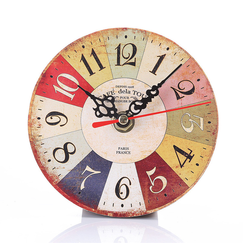 1PC Wall Clock Modern Design wall watch Vintage Style Non-Ticking Antiqu Wall Clock horloge murale reloj de pared decorativo D19 (5)