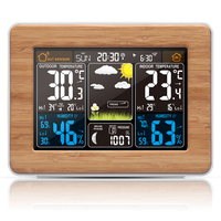 LCD Digital Weather Station With Indoor Humidity And Temperature Instrument Alarm Clock USB Output RF Sensing Technology Sensor