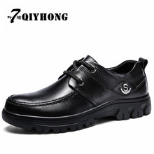 Fashion QIYHONG Brand Men Shoes Genuine Leather Winter Add Fur Men Ankle Boots Zapatos Hombre Warm Winter Snow Warm Men'S Boot