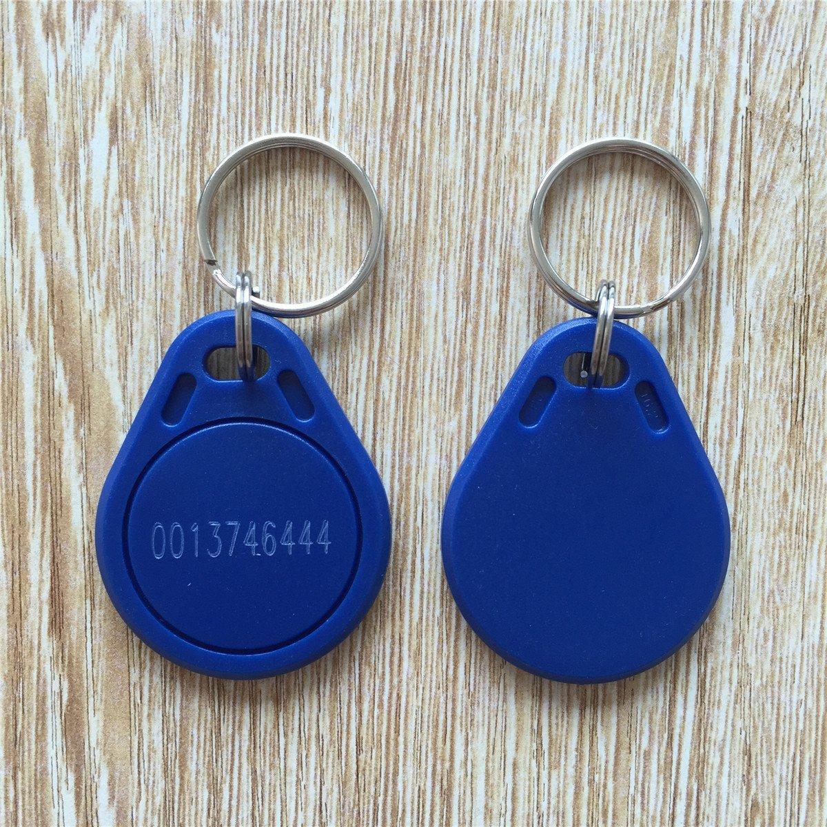 купить RFID Tag Blue EM4100 125khz EM Marine Keyfob (pack of 100) (Model 2) дешево