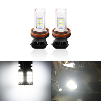2x H8 H11 Led Driving Fog Light Bulbs CAN-bus Reflector Mirror Design For BMW E63 E64 E90 E91 E92 E93 328i 328xi X5 E53 E70 E46 image