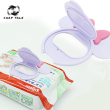 Baby Wipes Lid Baby Wet Wipes Cover Portable Child Wet Tissues Lid Cartoon Mobile Wipes Wet Paper lid Useful Accessories 2019