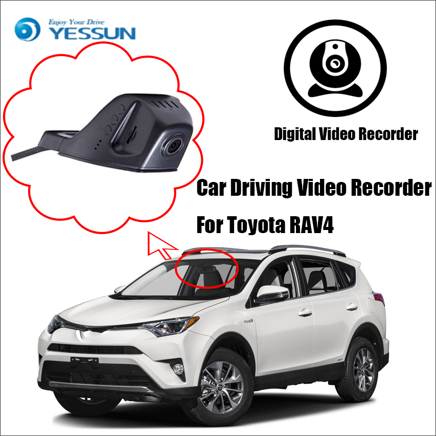 YESSUN Car Front Dash Camera CAM /DVR Driving Video Recorder - For Toyota RAV4 For iPhone Android APP Control Black Box Function yessun for iphone android app car front dash camera cam for jeep wrangle dvr driving video recorder control black box functi