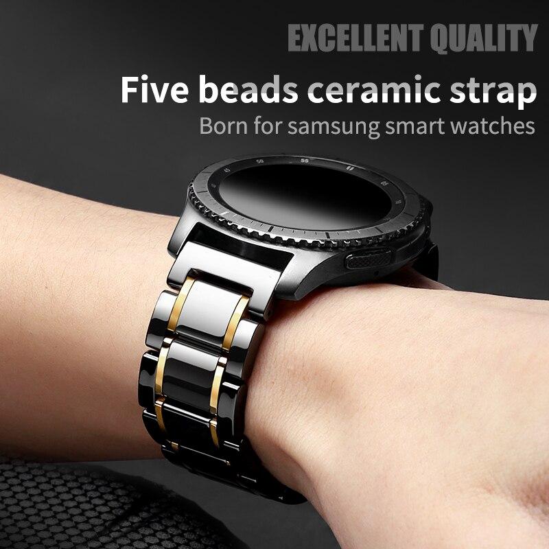 Pulseira de Relógio Cerâmica para Huawei Pulseira de Substituição 2 para Amazfit Bip para Samsung Pulseira Relógio Gear – s2 Clássico 20mm s4