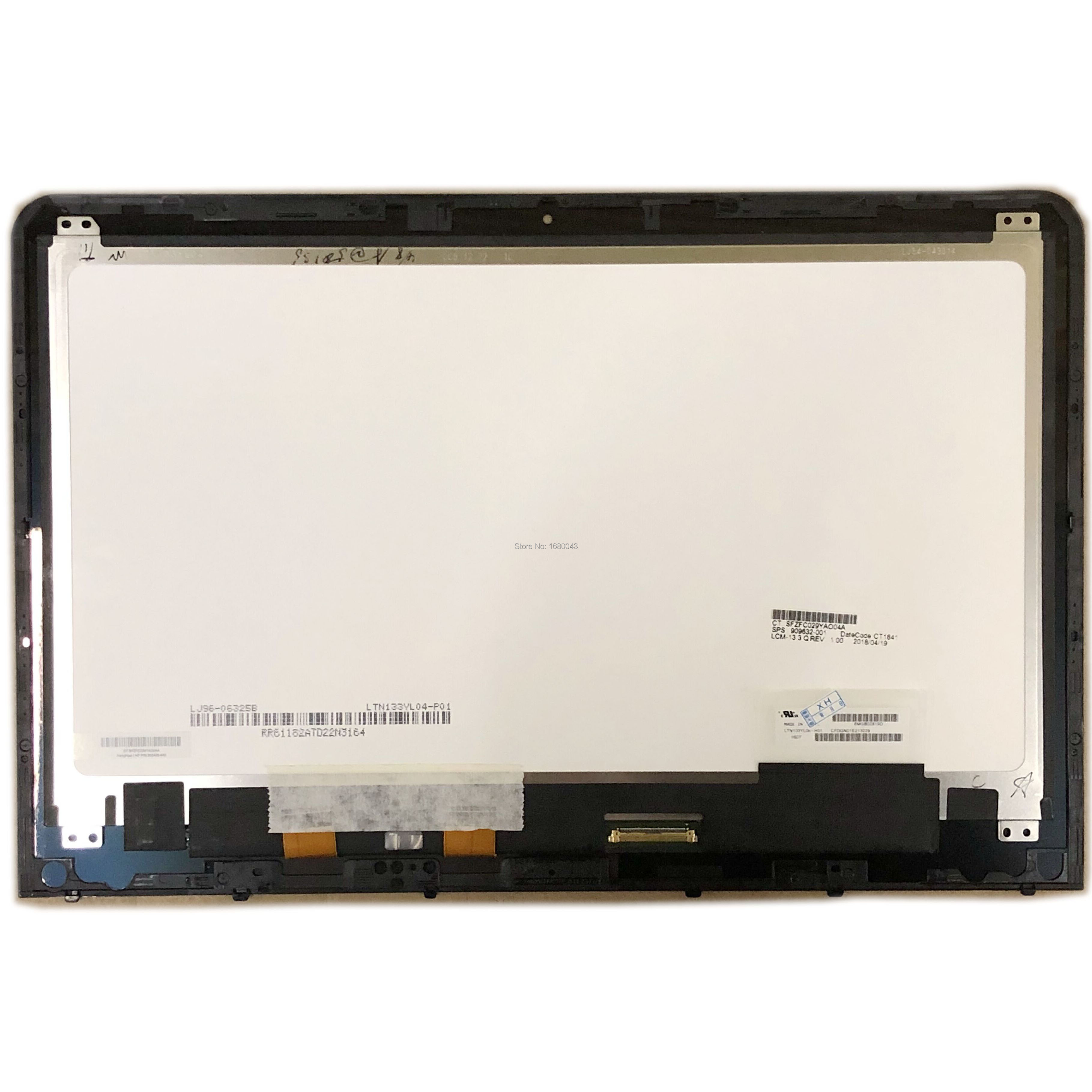 LTN133YL06  LTN133YL04 LCD SCREEN Digitizer Assembly Frame Replacement Parts For HP Envy 13-A 13-AB 13-ab015tu SPS 909632-001