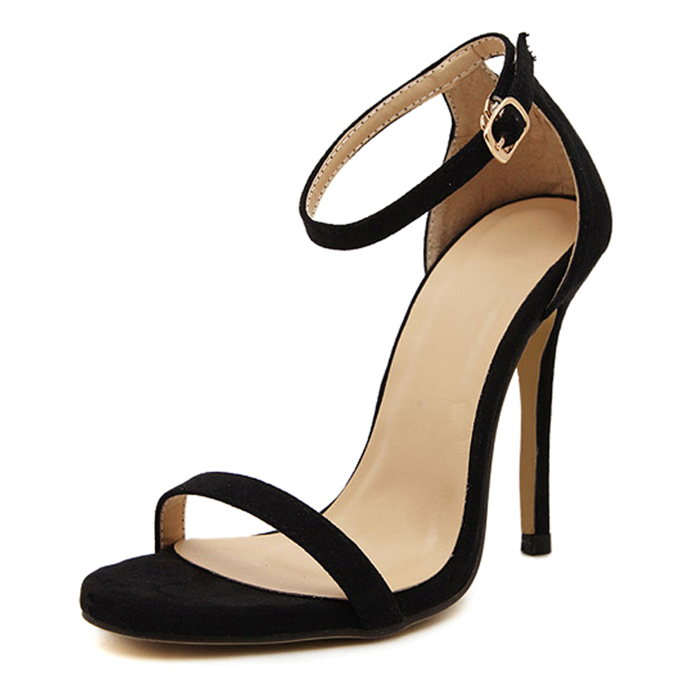 цены Female Sexy Fine with dew toe High-heeled shoes Black