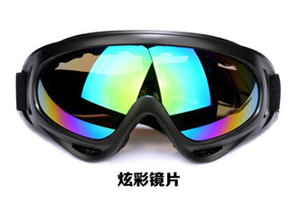 Outdoor riding motorcycle goggles sport goggles X400 windproof sand fan tactical ski goggles