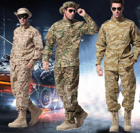d065d842ee8e9 Outdoor Tactical Hunting Airsoft Uniform Sets Suit Shirt Pants A-TACS FG  Multicam ACU AU