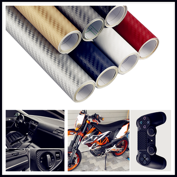 30x127cm 3D 5D CAR Carbon Fiber Wrap Film sticker and Decal FOR BMW 530Li 335i 750i 330i 325i 320si 630i X6 M6 640i 640d image