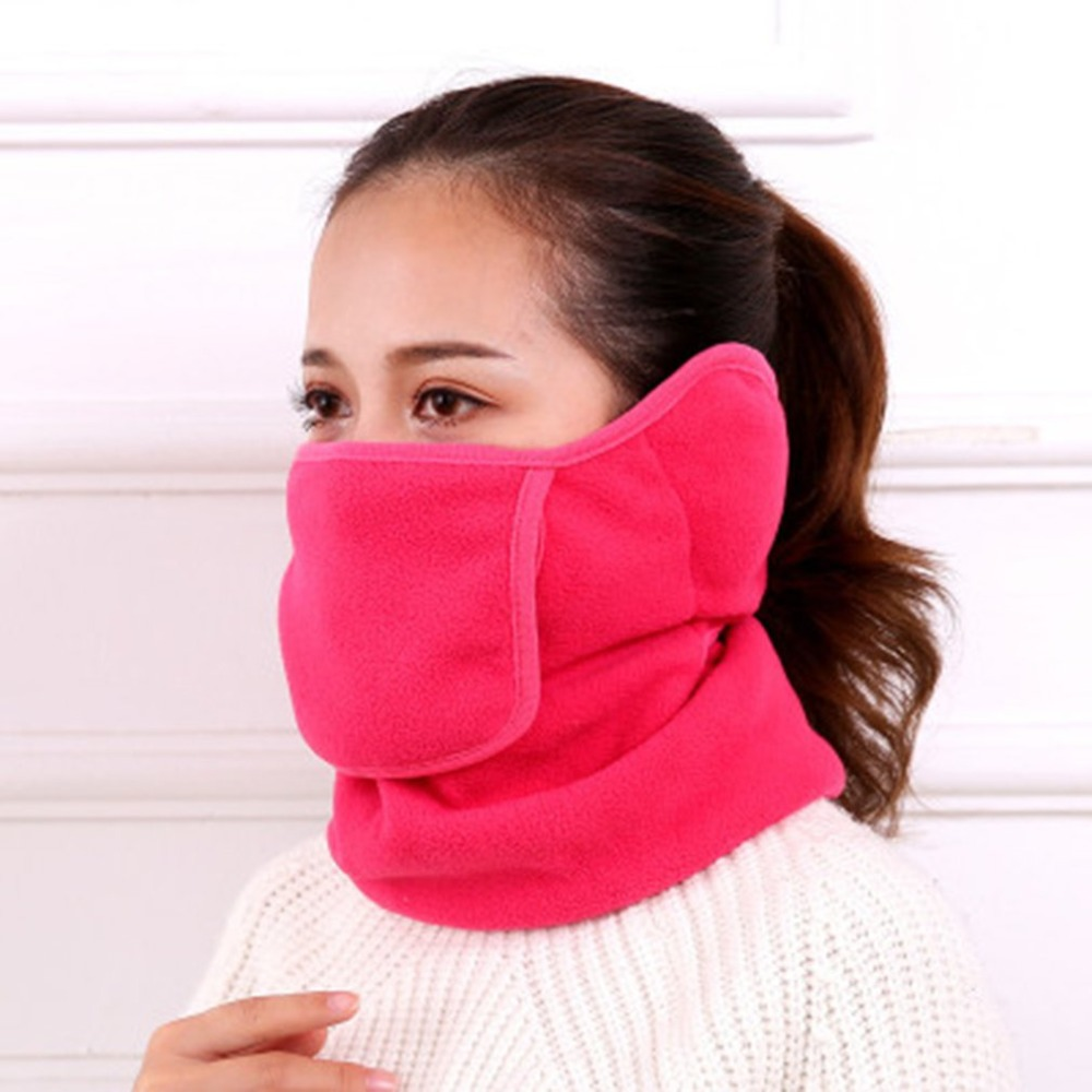 3 In 1 Cotton Soft Warm Mouth Mask With Ear Muff Ear Muff Neck Scarf Protective Winter Cycling Accessories Facial Masks