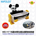 car accessories Mickey mouse  Cartoon car dashboard cradle phone storage box WD-117 freeshipping