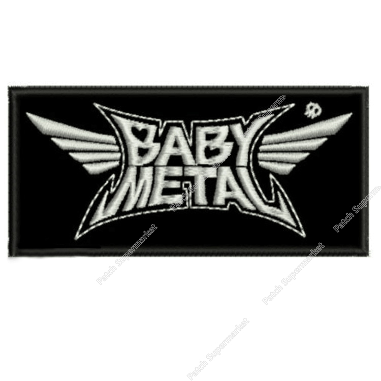 4 3 BABYMETAL EMBROIDERED PATCH HEAVY SPEED THRASH JAPAN BABY KAMI BAND Music Band retro applique