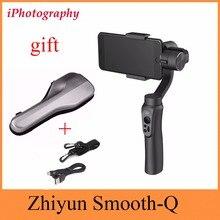 Zhiyun гладкой-Q гладкой Q Ручные стабилизаторы стабилизатор для смартфона для iPhone 7 6 S плюс S7 S6 Беспроводной Управление Вертикальный Стрельба