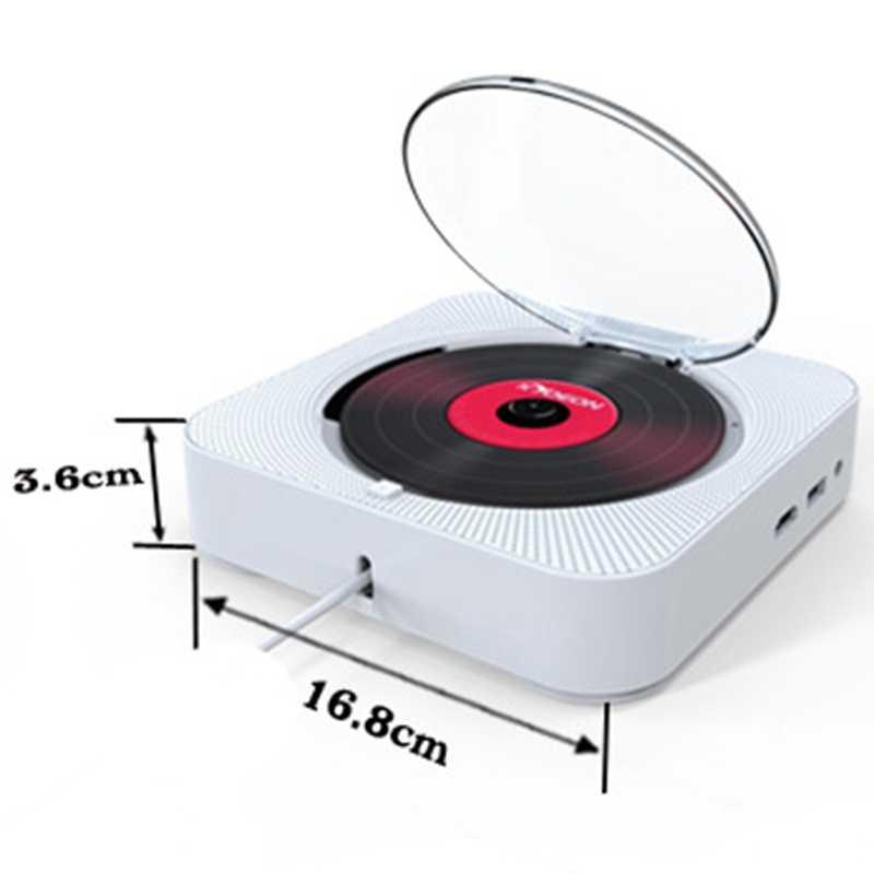 Kustron ODTWARZACZ DVD z Hdmi 1080P wyjście do telewizora do montażu na ścianie Bluetooth Audio w domu pudełko z pilot zdalnego sterowania Radio Fm bluetooth