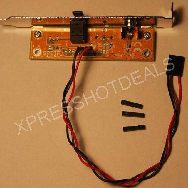 SPDIF оптический и RCA выход Кабельный кронштейн для материнской платы ПК