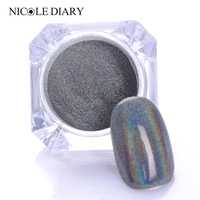 1g Box Holographic Laser Powder Nail Glitter Rainbow Pigment Manicure Chrome Pigments 33256