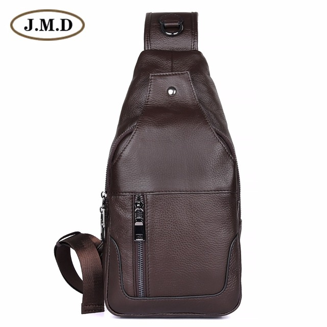 0517e69aaf67 J.M.D 100% Real Cow Leather Chest Bags For Mens Crossbody Sling Bag Boy s Shoulder  Bag Popular Satchels 4004A 4004C