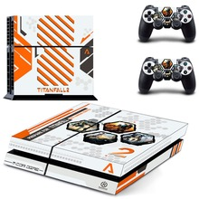 Game Titanfall 2 PS4 Skin Sticker Decal Vinyl for Playstation 4 Console and 2 Controllers PS4 Skin Sticker titanfall 2