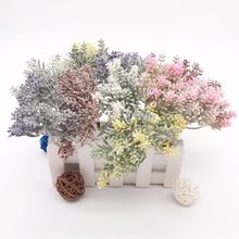 Искусственные мини-травы, 6 шт., искусственные цветы для свадьбы, Рождества, декор «сделай сам», скрапбукинг, венок, искусственные цветы