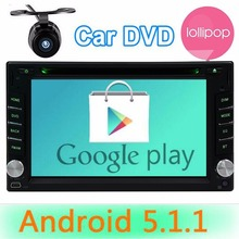 Double 2Din Android5.1.1 car dvd player Autoradio GPS Navigator Wifi Car Headunit radio android 2 din steering wheel with camera
