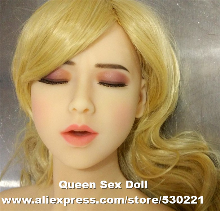 WMDOLL Top quality oral sex doll head for asian silicon sex doll, real feel sex toys for men, closed eyes sex products недорго, оригинальная цена