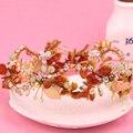 Fashion Crown Pearl Flower Tiara Fashion Wedding Hairband Hair Accessories Bridal Jewelry New bridal headband