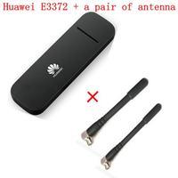 Débloqué Huawei E3372 E3372h-153 plus paire antenne 150 Mbps Modem 4G LTE Dongle USB sans fil