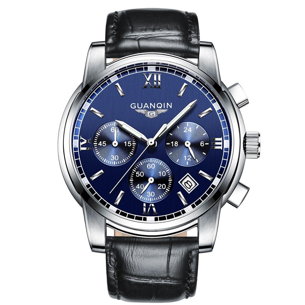 117d880697d 2018 nova famosa marca de luxo guanqin homens de negócios de moda relógio  de quartzo cheio de aço inoxidável relógios à prova d  água do sexo  masculino