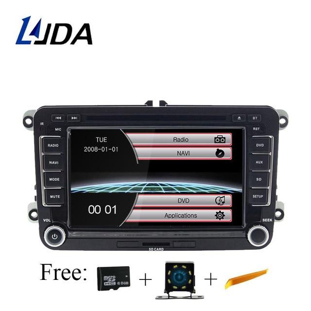 LJDA Car DVD Player for VW Golf 6 Golf 5 Passat b7 cc b6 SEAT leon Tiguan Skoda Octavia T5 Multimedia GPS 2 Din Car Radio Canbus